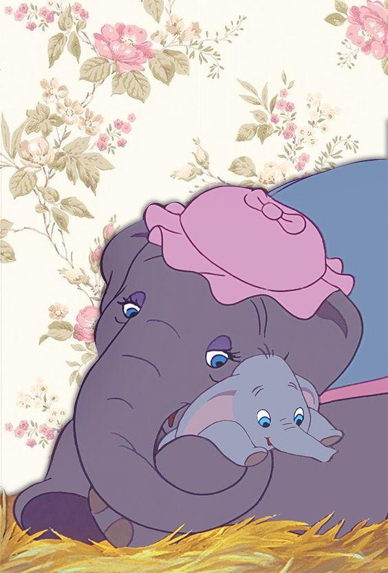 Dumbo Lockscreen Disney Binatang Wallpaper Lucu Gajah