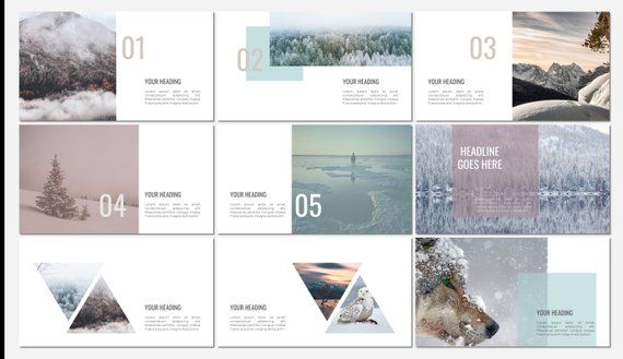 FROST PowerPoint template Xoilo PowerPoint templates Pinterest