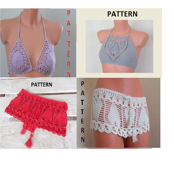 Crochet Halter Top Pattern Crochet Shorts Pattern Crochet