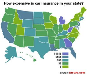 Car Insurance Compared By State Michigan Is Ranked With The Most