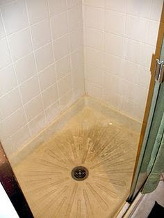 Use Easy Off Oven Cleaner To Clean Fiberglass Shower Floor. Easy Off In The  Blue