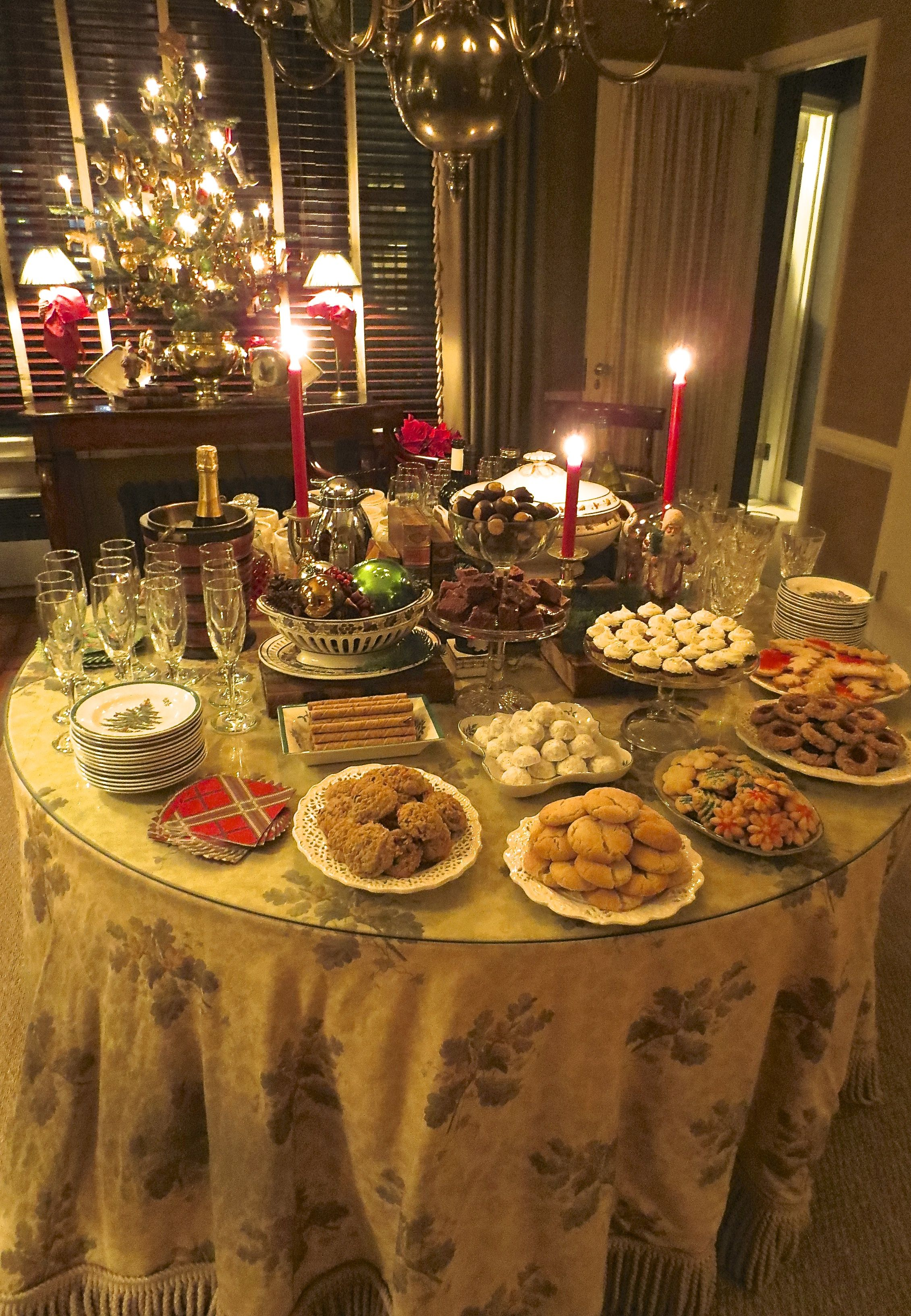 Image result for evening dessert buffet christmas