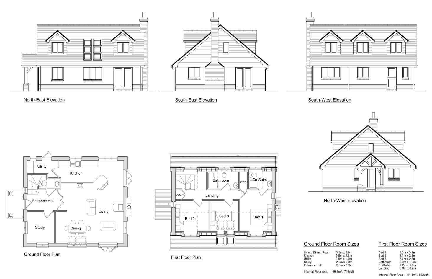 Chalet Bungalow Floor Plans Uk In 2020 Bungalow Floor Plans Bungalow House Plans House Plan Gallery