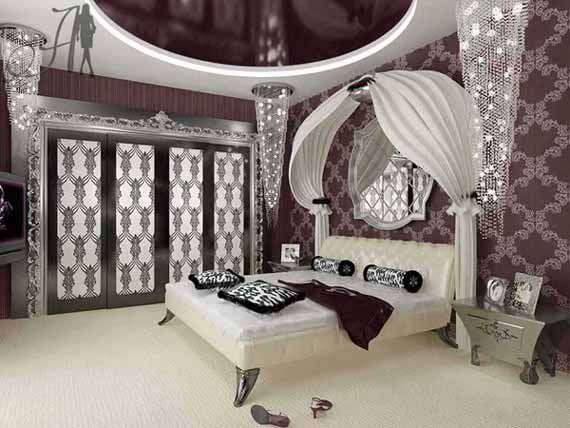 luxurious girl bedroom interior decorating ideas custom closet with designer doors ceiling is custom