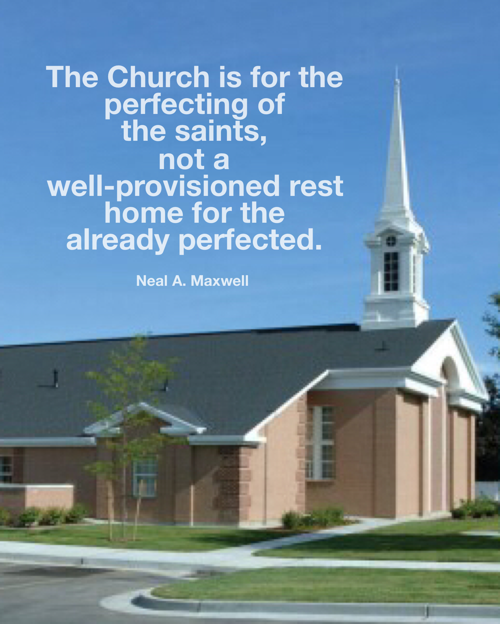 Perfecting the Church