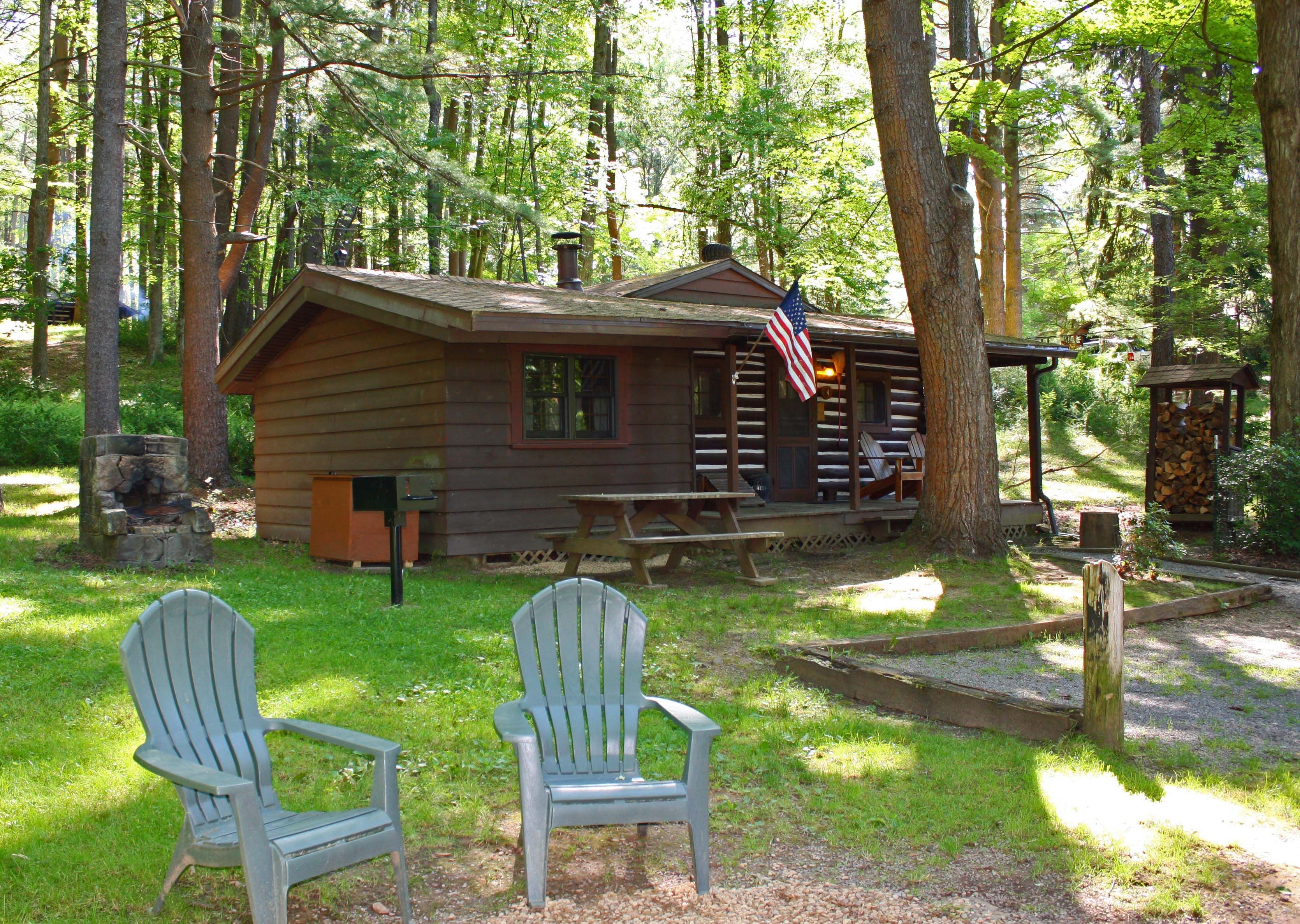 Available The Weekend Of April 6 8 2018 This Log Knotty Pine Cabin Features A Cozy Stone Wood Burning Fireplace Sleeper Cabin Hot Tub Forest Cabin Cabin