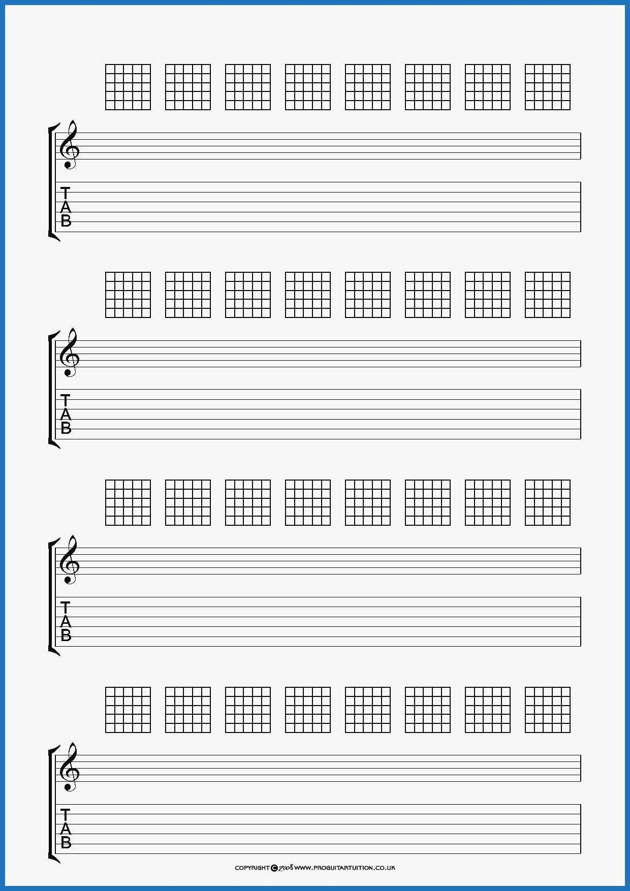 The Interesting 58 New Models Of Blank Guitar Tab Template Best