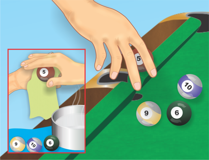 How To Rack A Pool Table 10 Steps With Pictures Wikihow >> Clean A Felt Pool Table Top Cleaning And Household Tips Pool