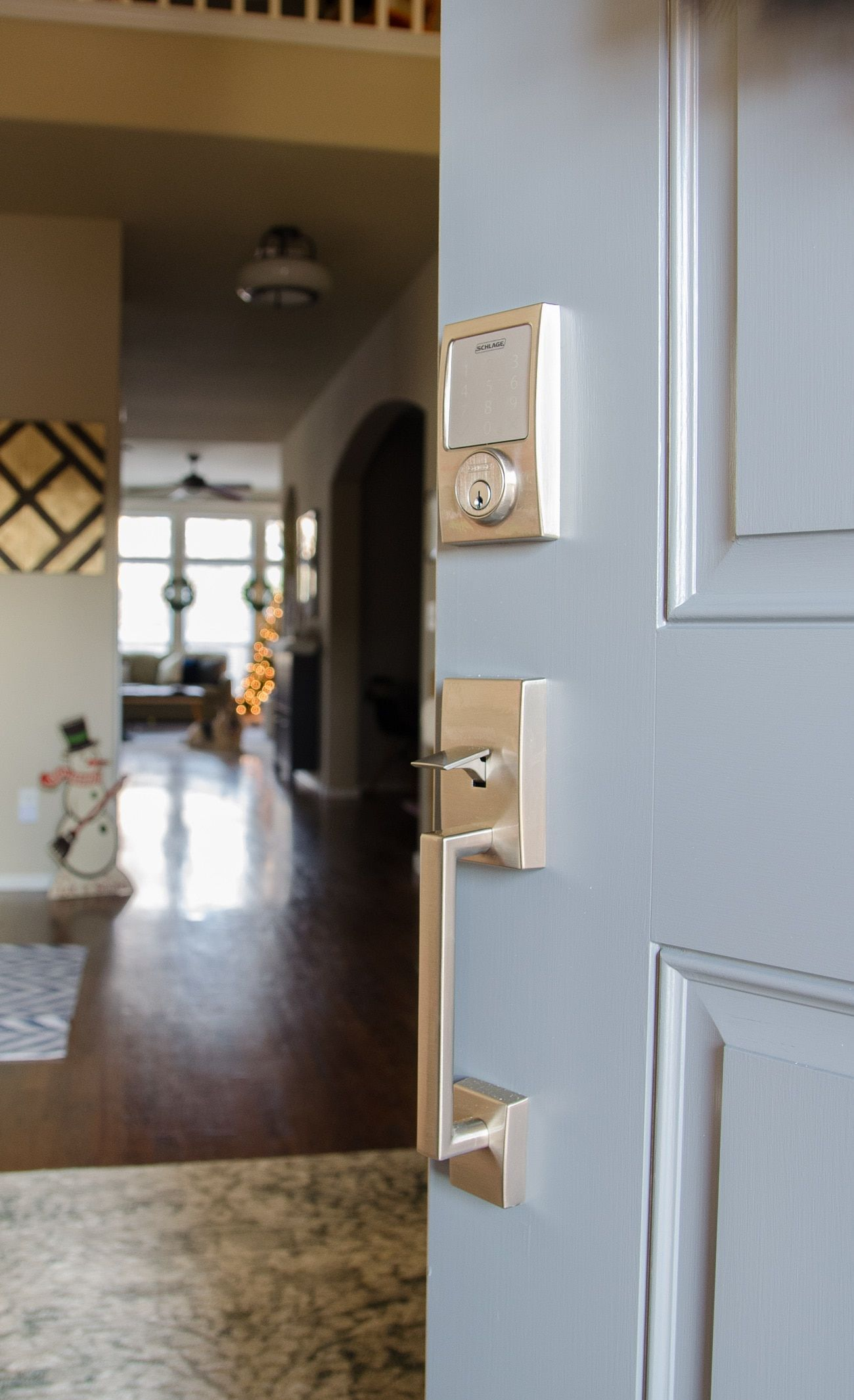 Installing a keyless lock for the front door was easier than we ...