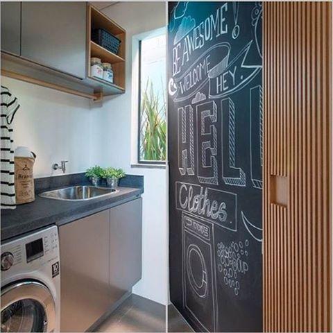 Projeto @triplex_arquitetura #serviceroom #lavanderia #homedecor #decor # Design #instablog #instalike #arquitetura #architecture #cool #adesivo ...