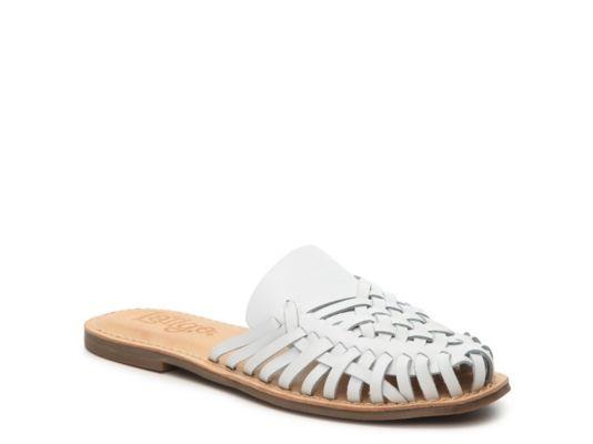Women's Women Hibiscus Leather Mule -White - White