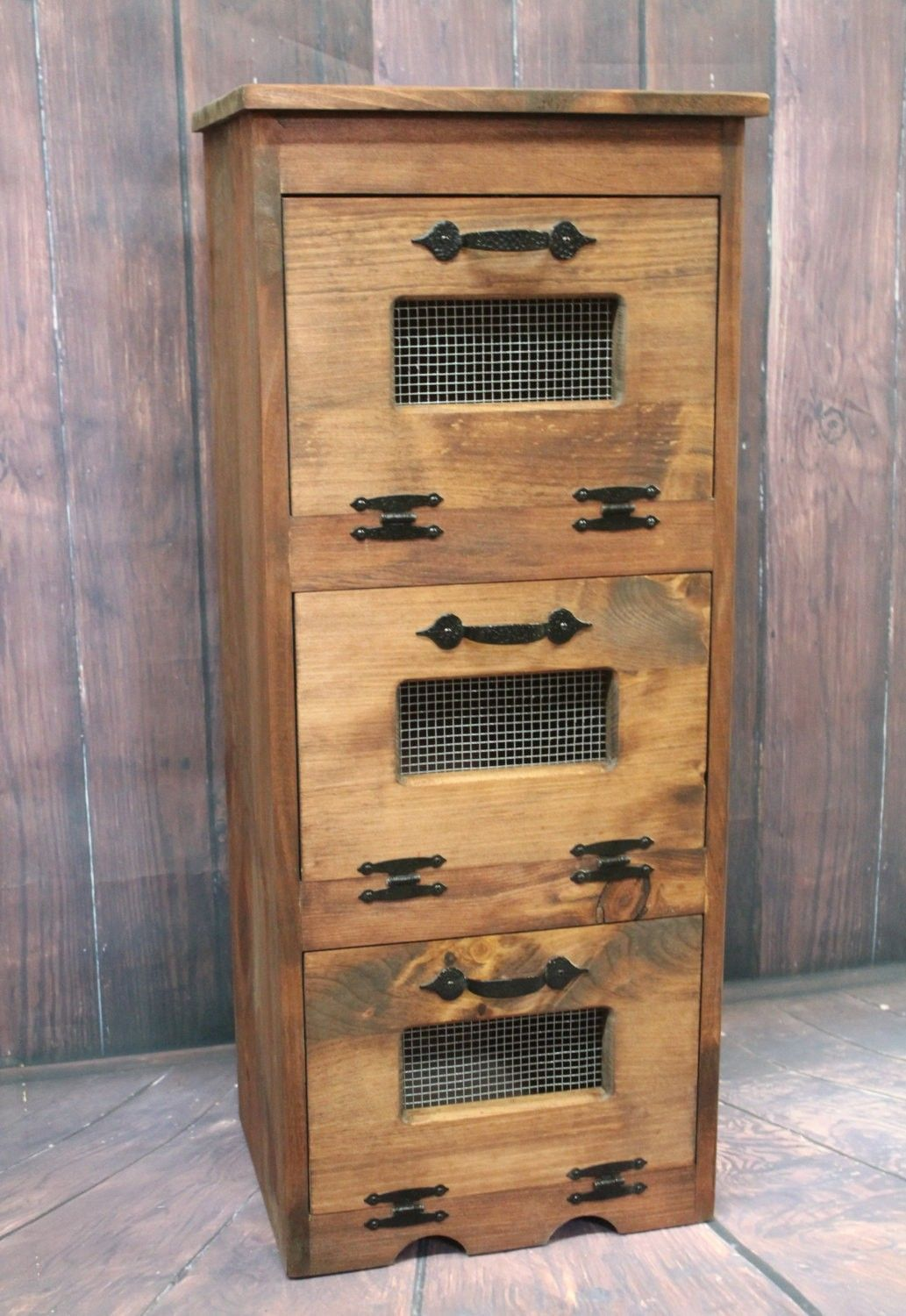 Where To Buy Wood Vegetable Bin Potato Storage Rustic Cupboard