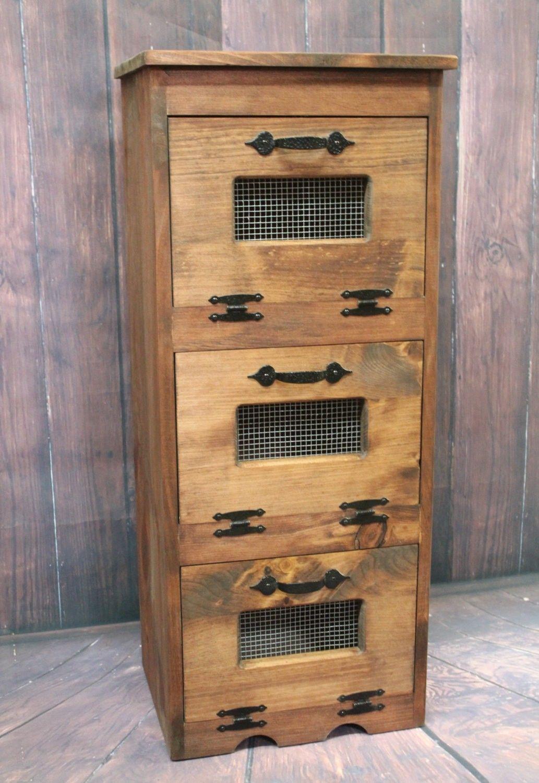 Where to buy Wood Vegetable Bin Potato Storage Rustic Cupboard ...