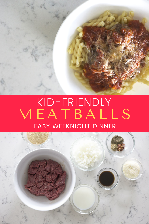weeknight meatballs {recipe images