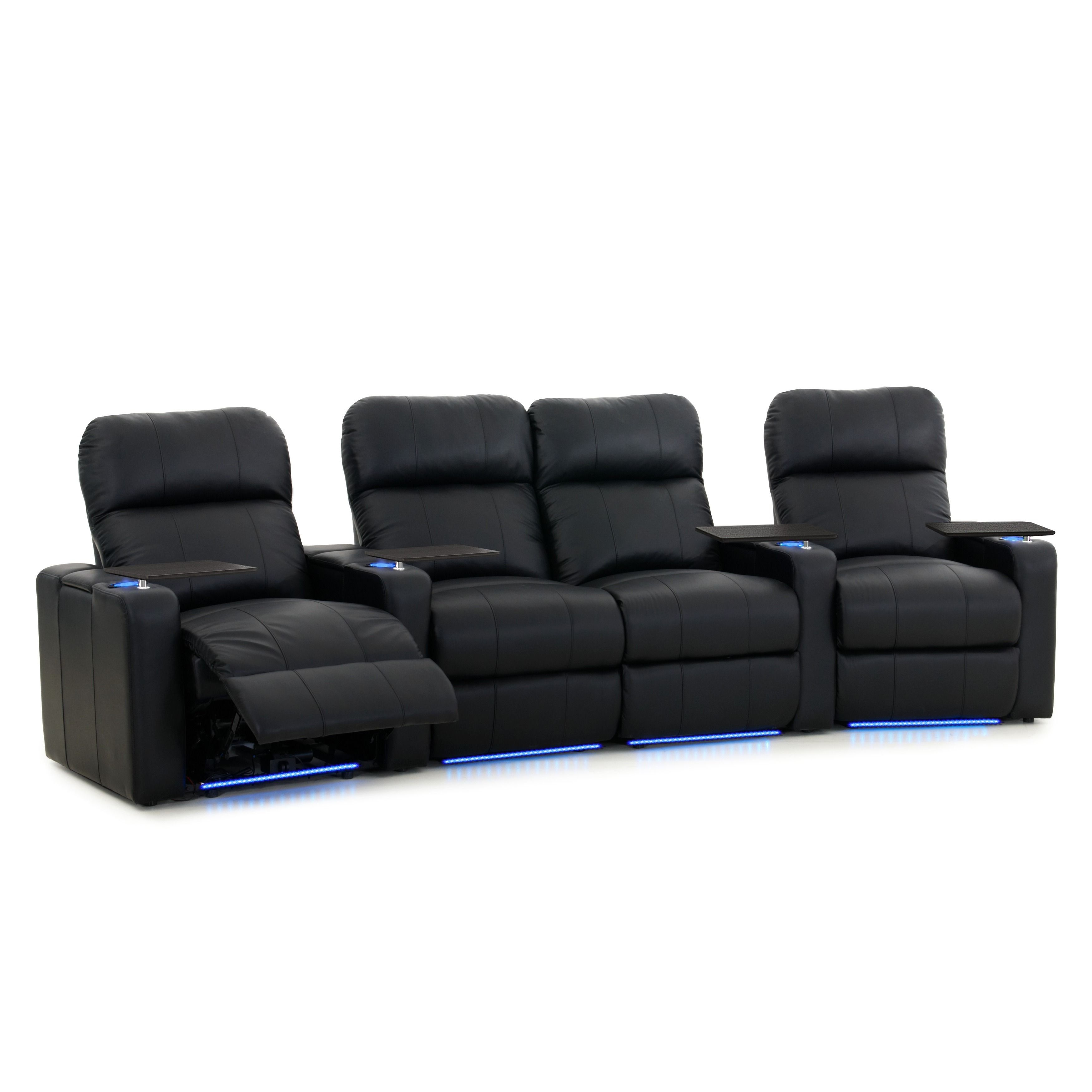 view salamander loveseat av recliner zoom products black larger basics bonded bl motorized leather image bk p theater of seating home