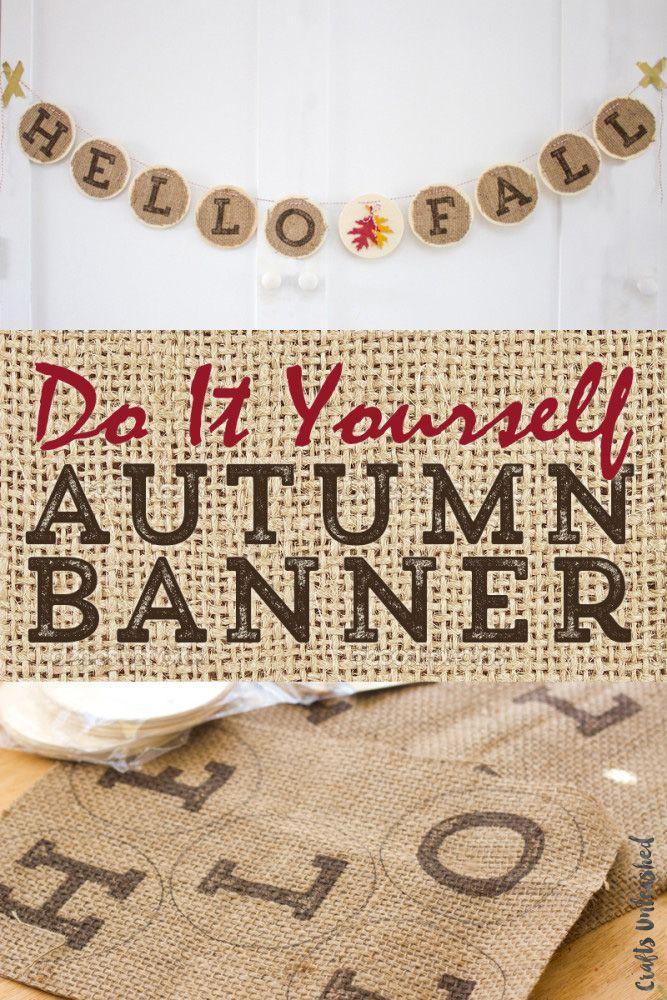 DIY Autumn Burlap Banner - Follow this easy tutorial on ...