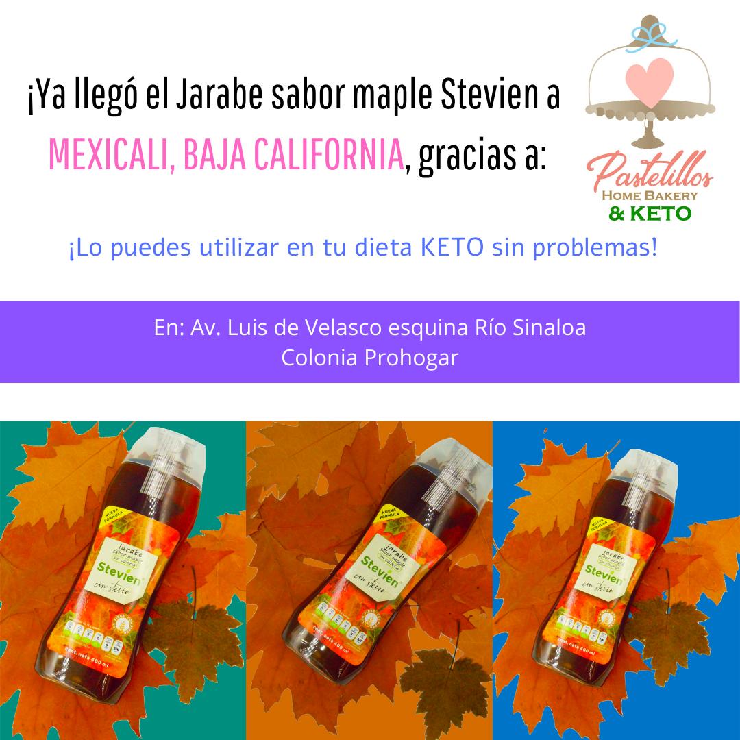 Perfecto para Dieta Keto. Sin azúcar, sin carbs y con stevia.  De venta en: La Comer, HEB, Soriana,...