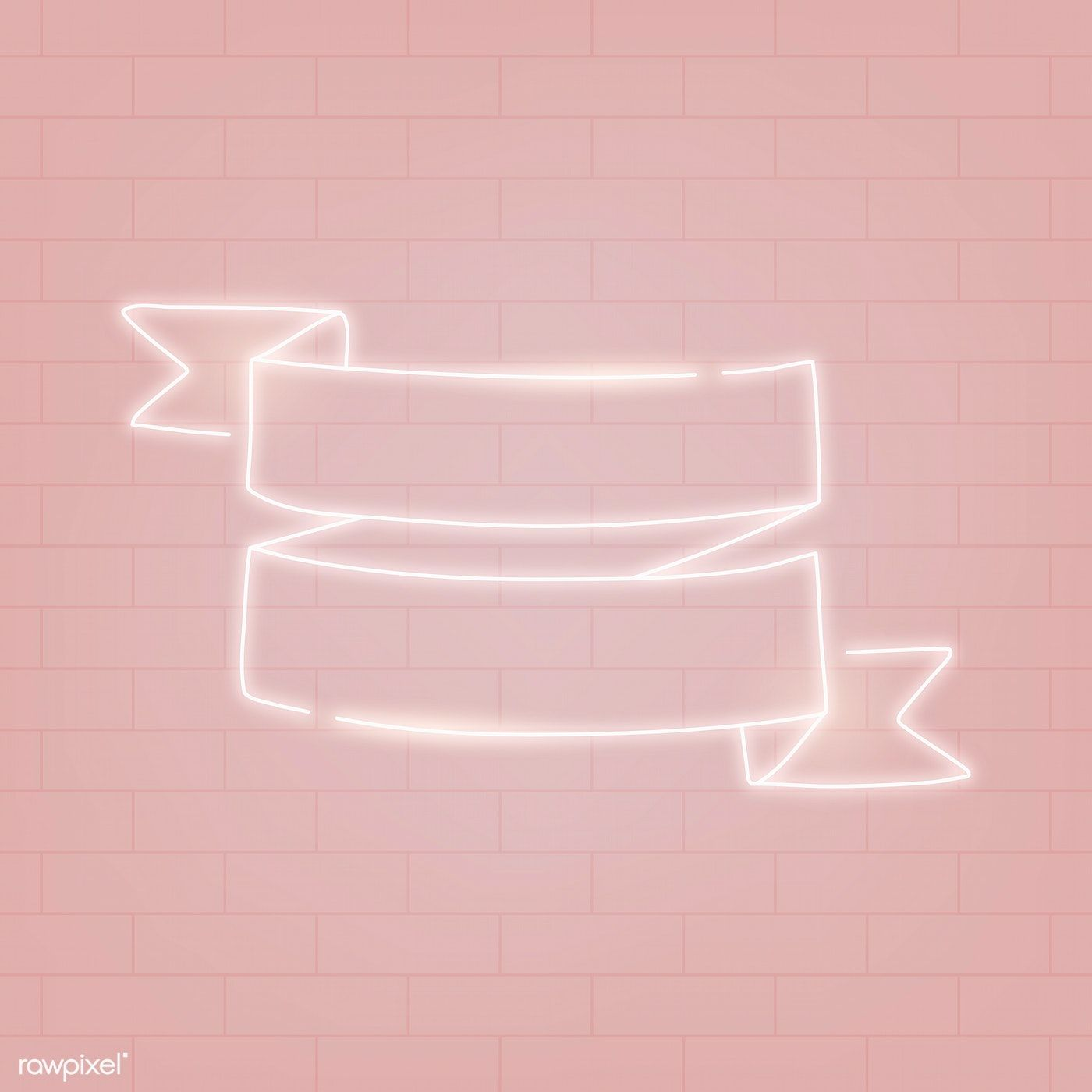 Neon banner on a pink background vector free image by