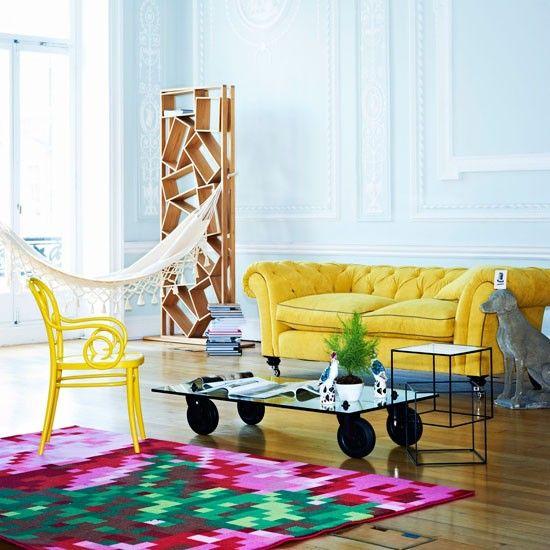 Wohnideen Wohnzimmer-gelb pink-modern | Colorful Design | Pinterest ...