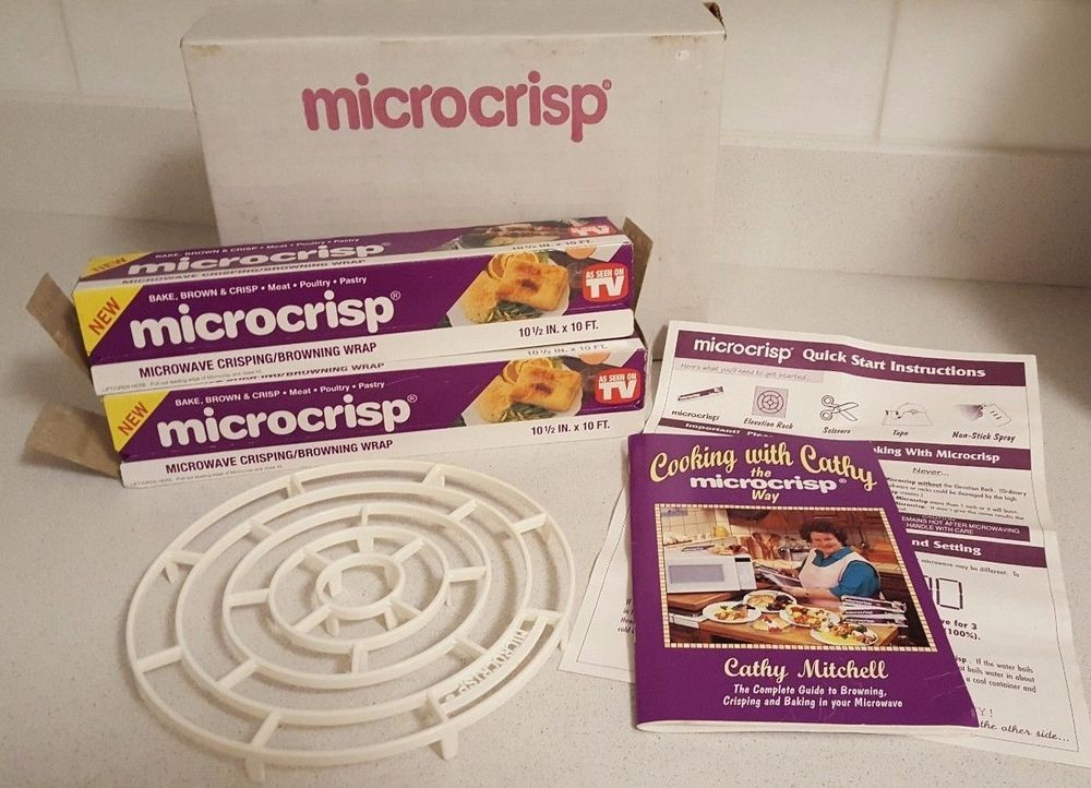 microcrisp browning wrap set as seen on tv 2 boxes manual and tray rh pinterest com As Seen On TV Items As Seen On TV Products