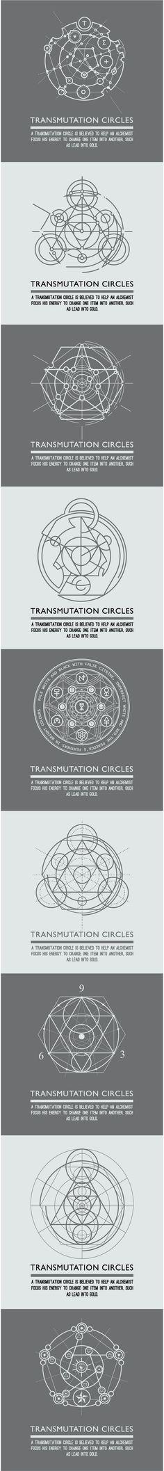 Transmutation Circles Alchemical Symbol Sacred Geometry Can Be