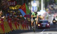 Peter Sagan se v cíli 16. etapy hrdě bil do hrudi.  Foto - AP
