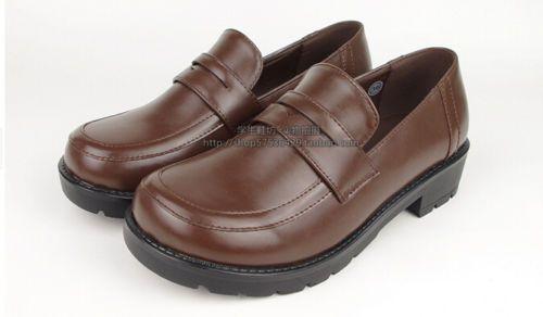 fc897ac0cb9 Japanese-School-student-Uniform-Shoes-Uwabaki-Flat-Heels-Round-Cosplay-Shoes -New