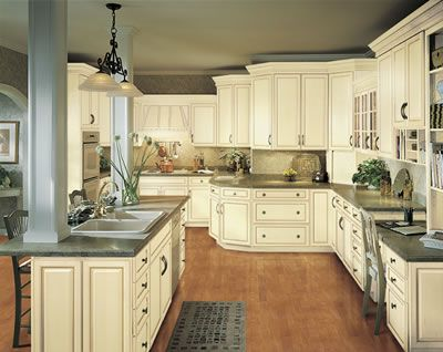 vanilla cream kitchens cabinet style Waverly with the