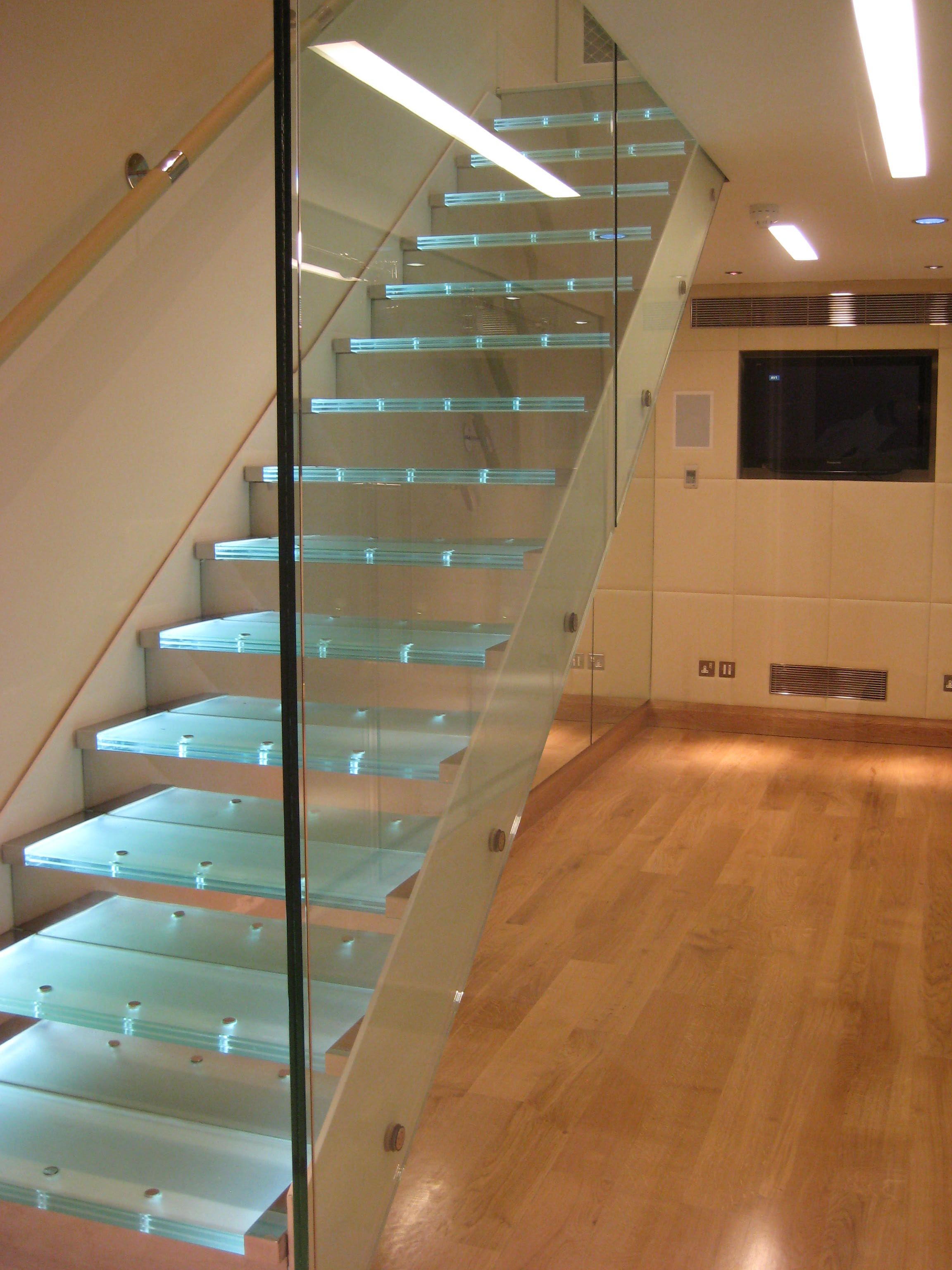 Steel And Glass Bespoke Staircase In London, England
