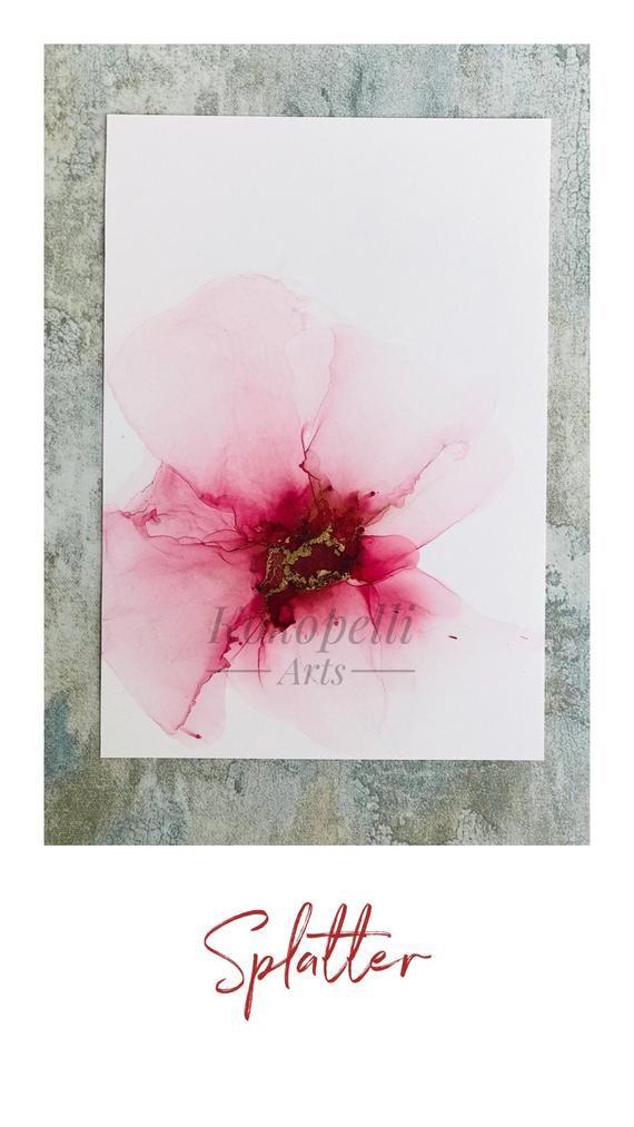 Alcohol ink abstract art Original by KOKOPELLI ARTS #alcoholinkcrafts