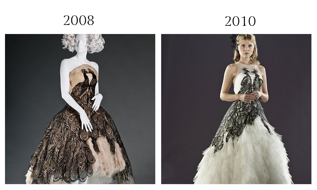 Housed At The Fidm Museum Alexander Mcqueen S Peacock Dress