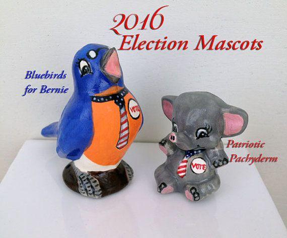 2016 Election Mascots Birdie Sanders or Patriotic by TeaPunkery
