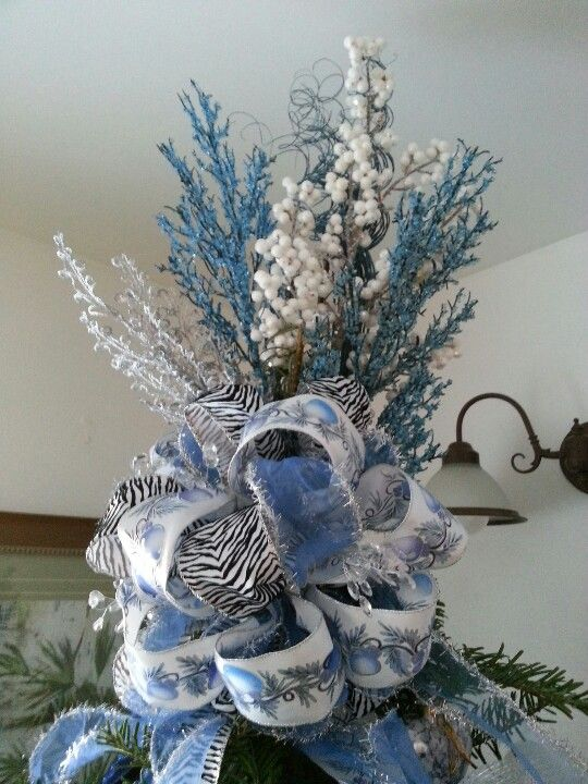 Blue Christmas Tree Topper Christmas Tree Toppers Blue Christmas Tree Tree Toppers