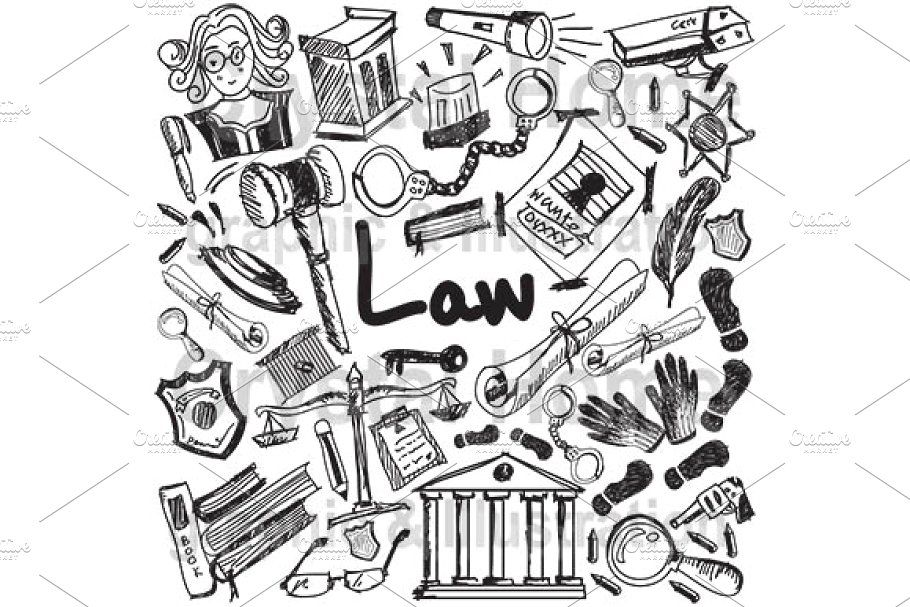 Law And Justice Subject Doodle Law And Justice Doodles Law
