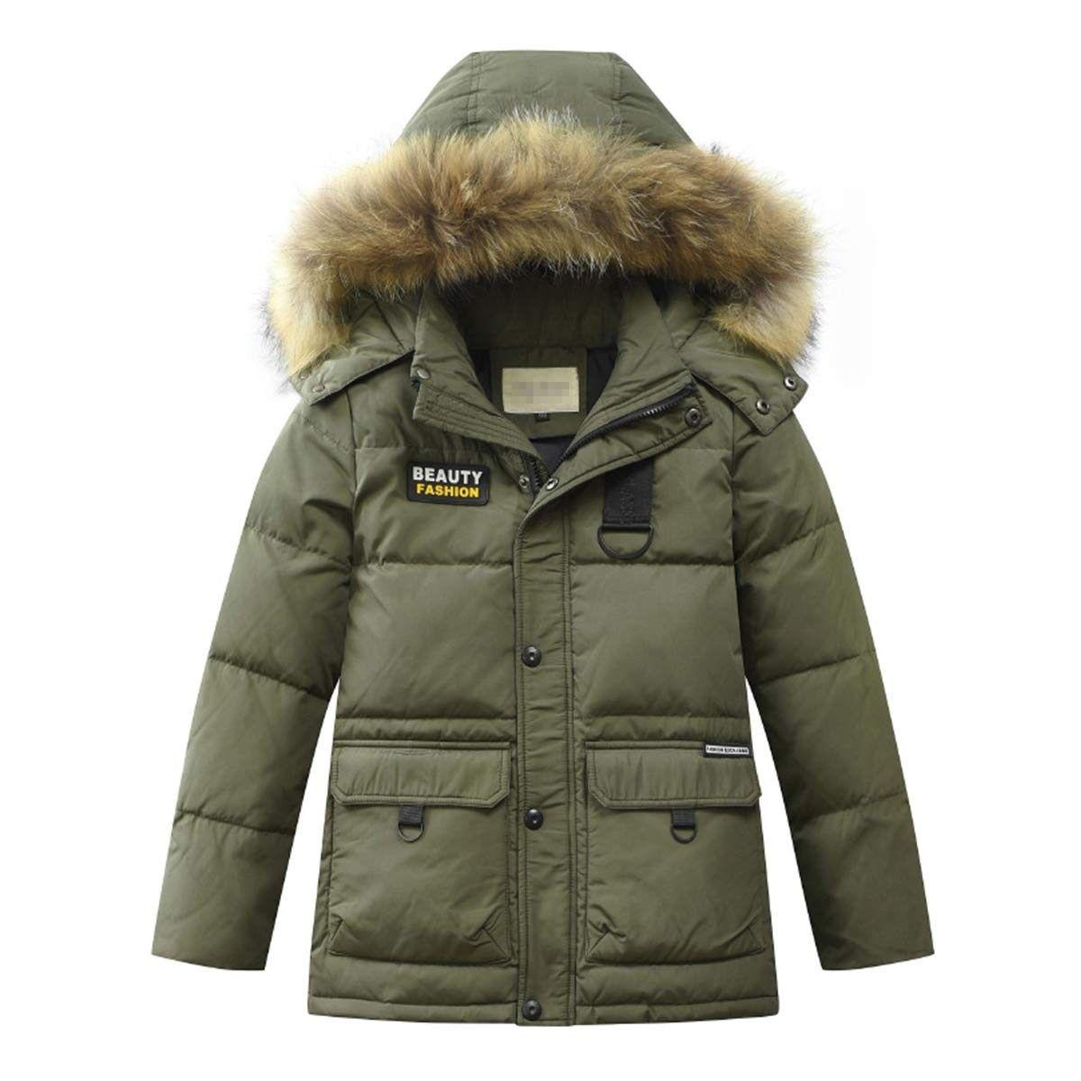 Boys Kids Winter Hooded Down Coat Puffer Jacket For Big Boys Mid Long Army Green Cu18i05ha4x Boys Winter Coats Boys Winter Jackets Winter Jackets [ 1200 x 1200 Pixel ]