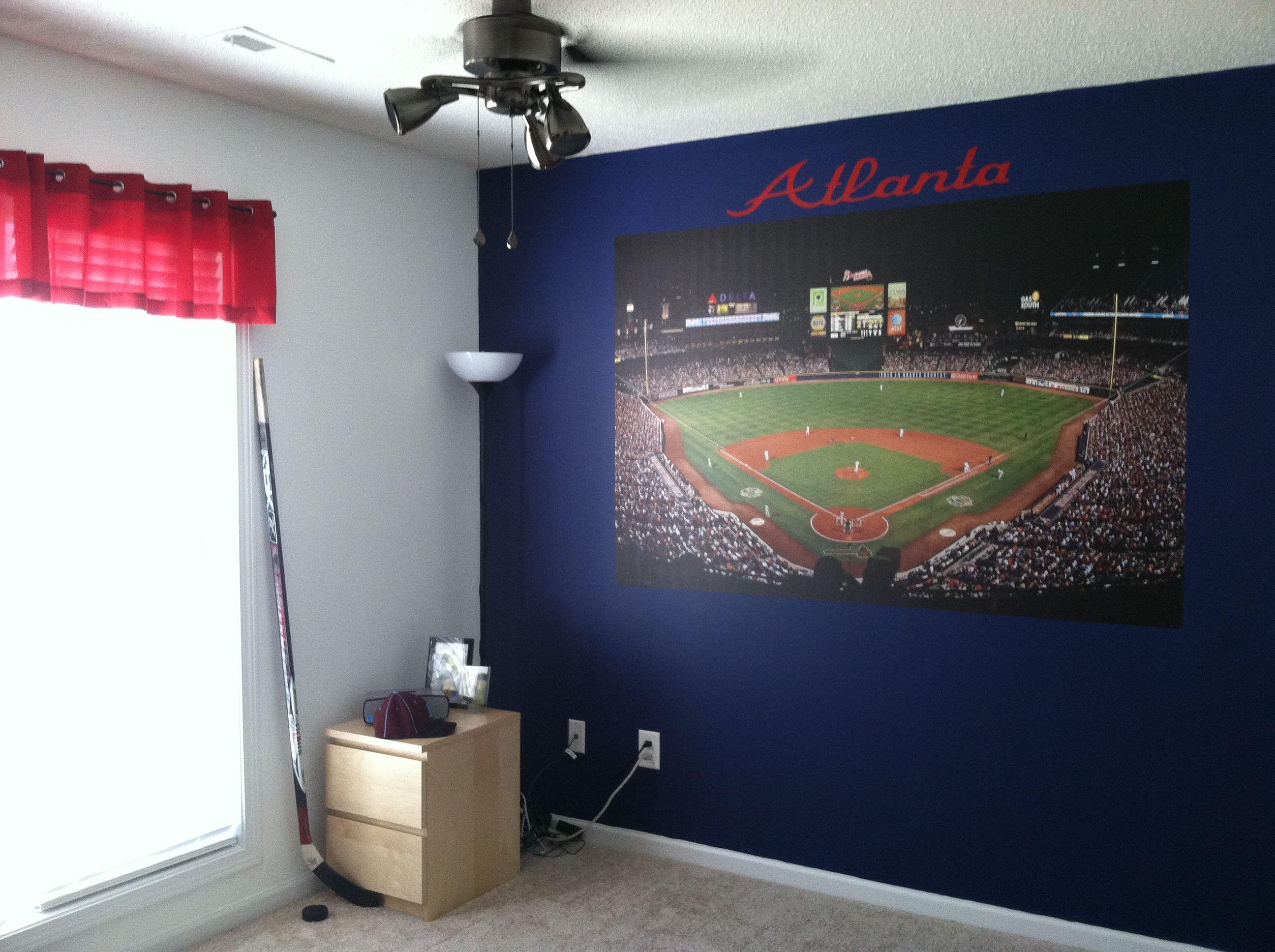 Atlanta braves bedroom bedroom decor pinterest for Rooms to go kids atlanta