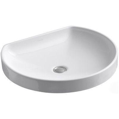 Kohler Water Cove Ceramic Specialty Drop In Bathroom Sink Drop
