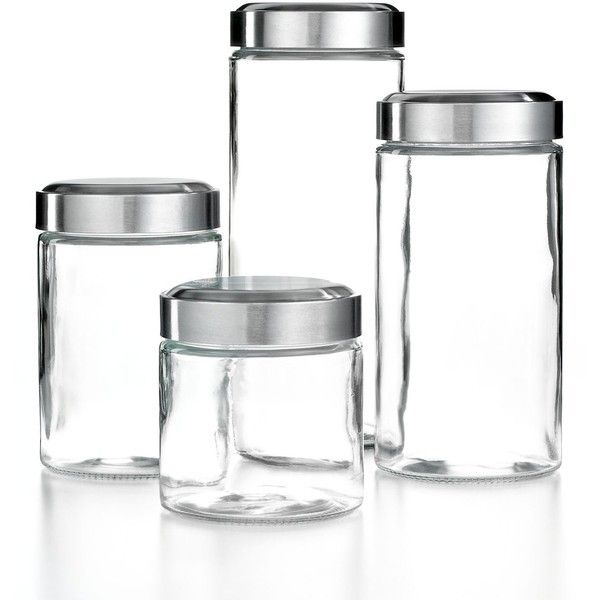 Martha Stewart Collection Glass Food Storage Containers Set of 4