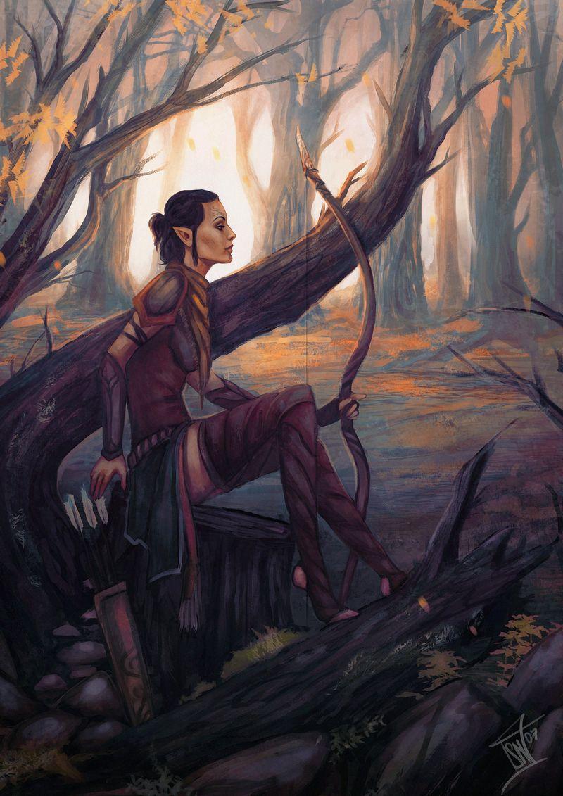 Dalish Inquisitor, by Smilika | Dragon Age | Dragon age, Dragon age