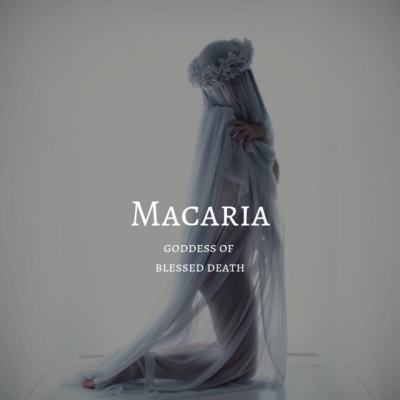 greek myth / macaria #odyssÉe macaria / goddess of blessed death #odyssÉe