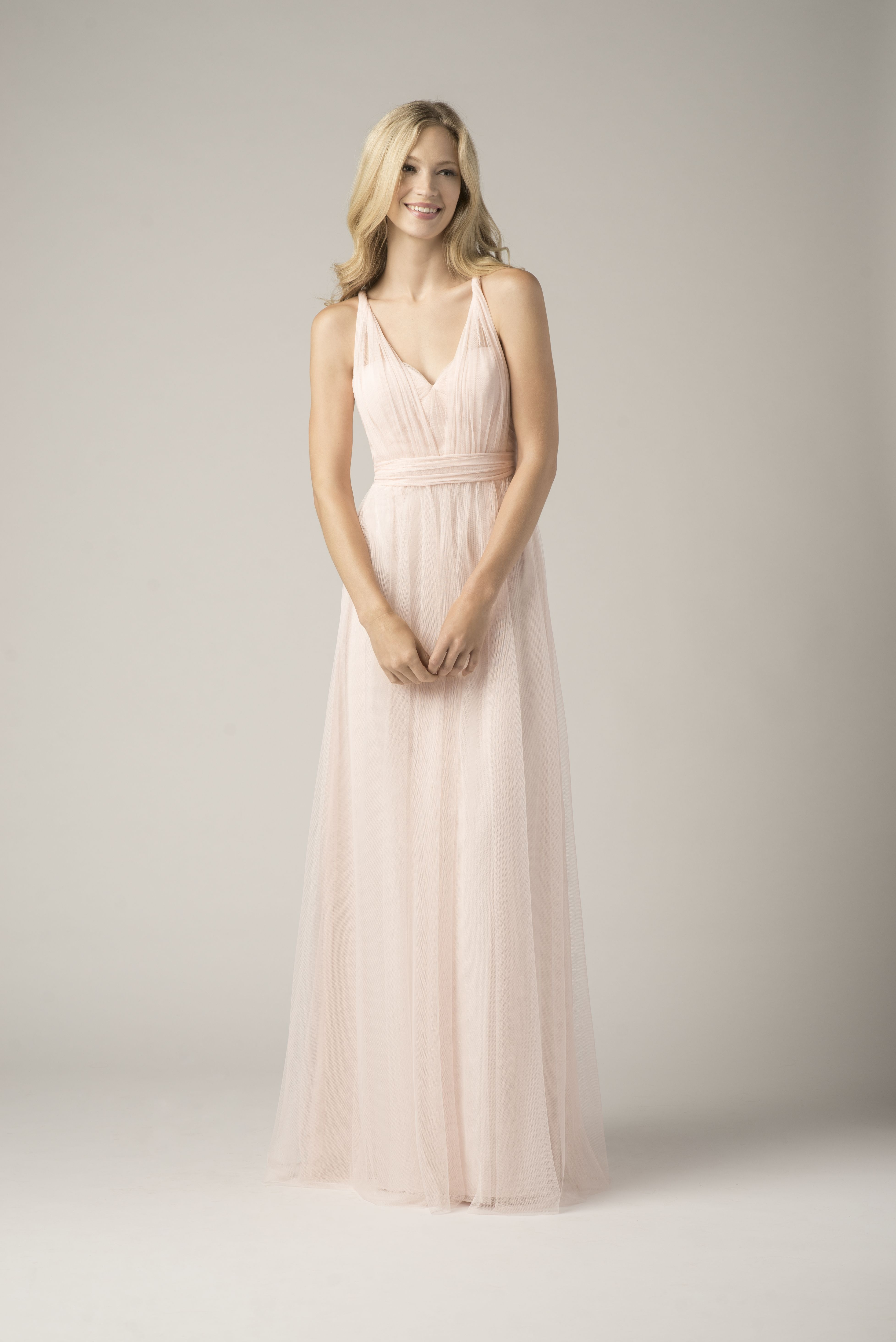 Wtoo Bridesmaid 852i Infiniti Wrap Dress In Ice Pink Bridesmaid Dresses Dresses Watters Bridesmaid Dresses