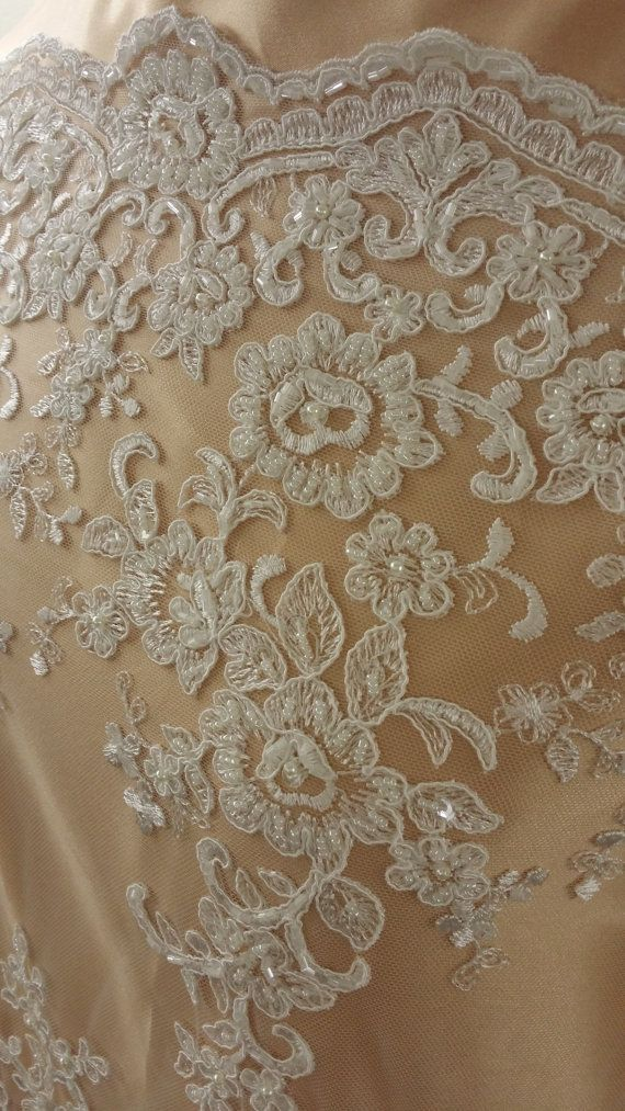"3 METRES White and Pink French Embroidered Tulle Lace Trim 5/""//13cm TOP SELLER"