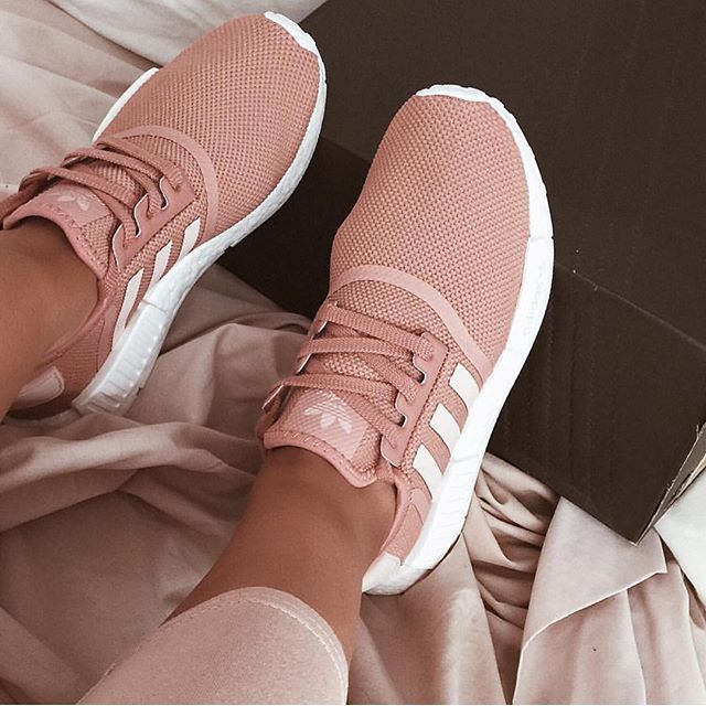 best sneakers af8fc fd33d Adidas NMDs in Raw pink | College football | Adidas shoes ...