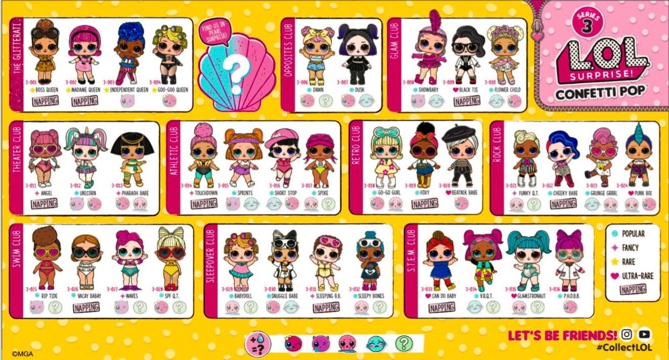 Lol Tots Series 3 Complete Lol Dolls Lol Surprise