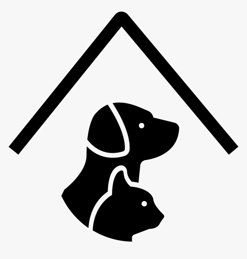 Pet Hotel Sign With A Dog And A Cat Under A Roof Line Pet Friendly Icon Png Transparent Png Is Free Transparent Png Image To Explo Pet Hotel Pets Dog Hotel