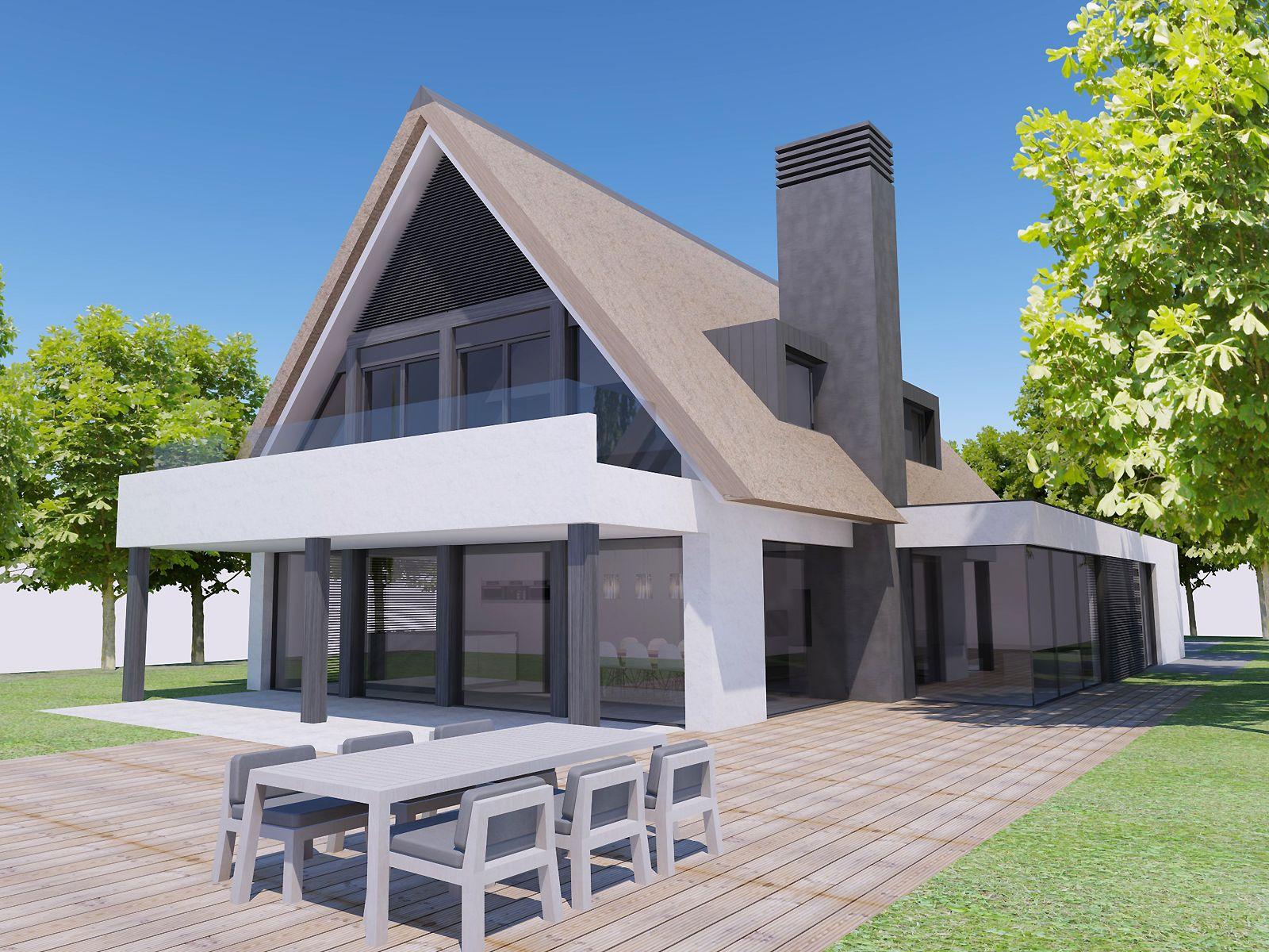 Building design architectuur huis landelijk modern for Landelijk huis