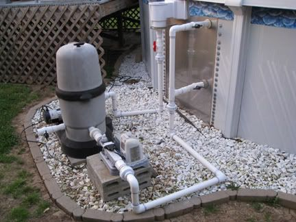 Finally Plumbed my AGP with PVC  Pool Plans  Pvc pool
