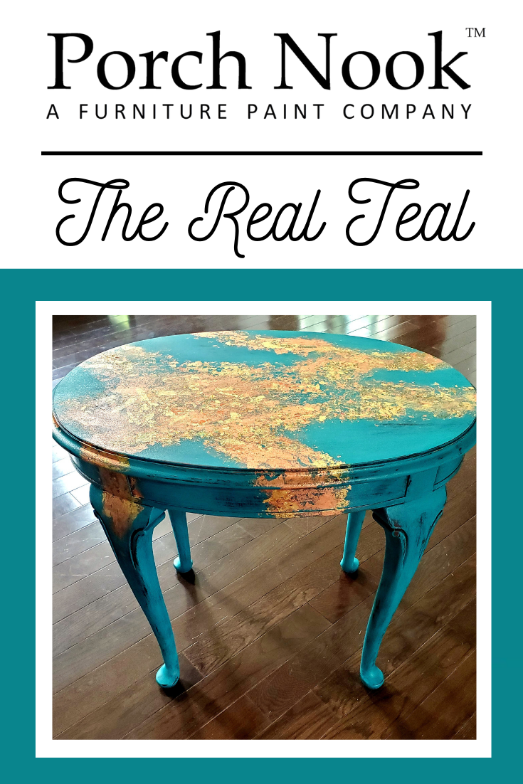 A stunning, 100% oak heirloom Drexel end table! Originally manufactured in the late 1970s, this stunner was painted w/ Porch Nook™ Chalky Finish Paint