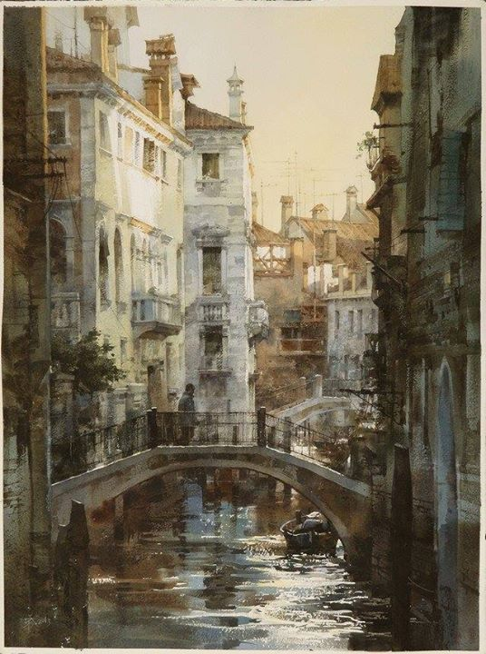 Chien Chung Wei Venice Symphony Watercolor Architecture