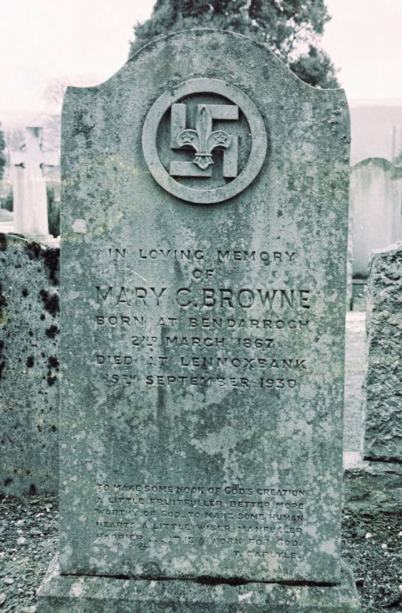 I Found This Swastika Headstone In Gareloch Cemetery Scotland From